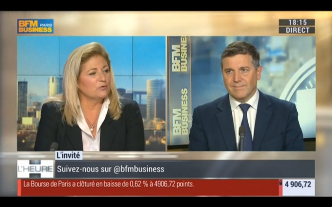 Intervention dans l'émission « 18h l'heure H » (BFM Business)