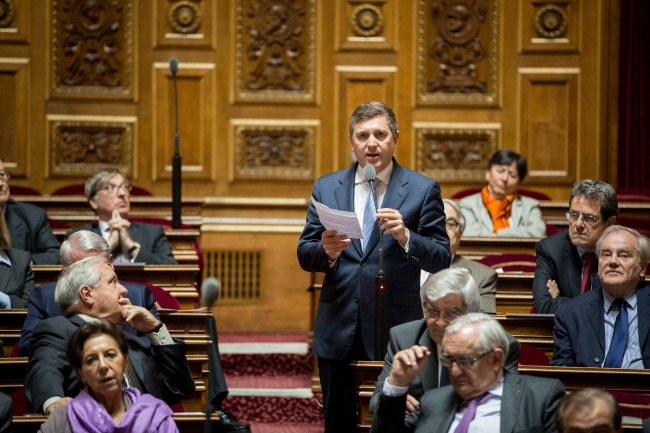 Intervention sur le ras-le-bol fiscal lors des questions d'actualité au gouvernement © Photo : CELIA LEROUGE